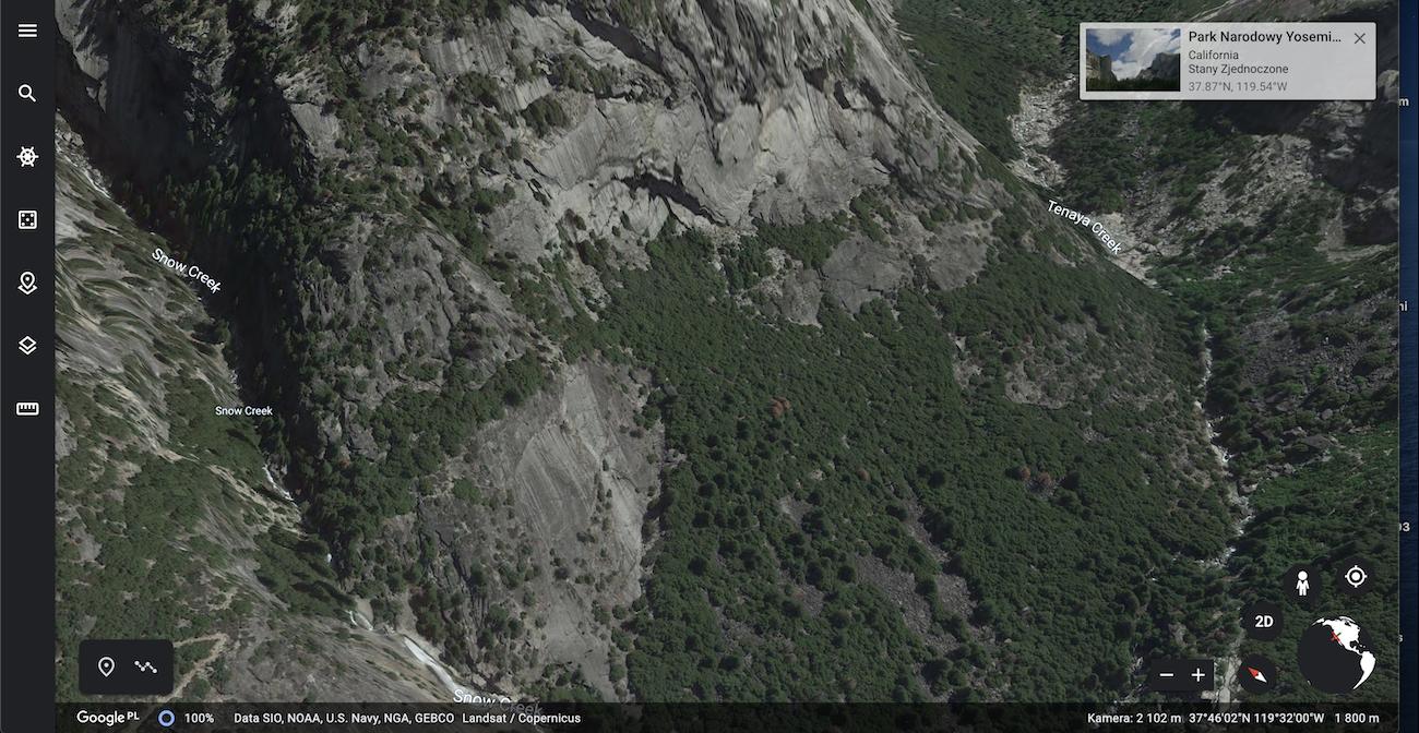 Google Maps 3D: Park Yosemite