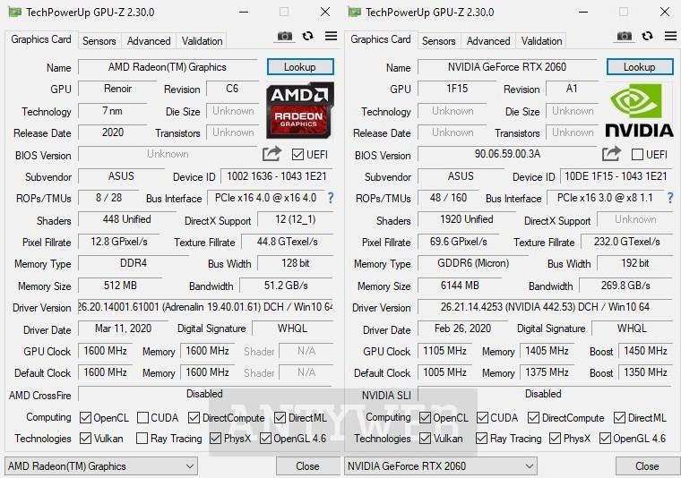 ASUS TUF Gaming A15 GPUZ