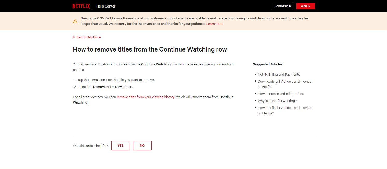 """jak usunąć """"kontynuuj oglądanie"""" na netflix"""