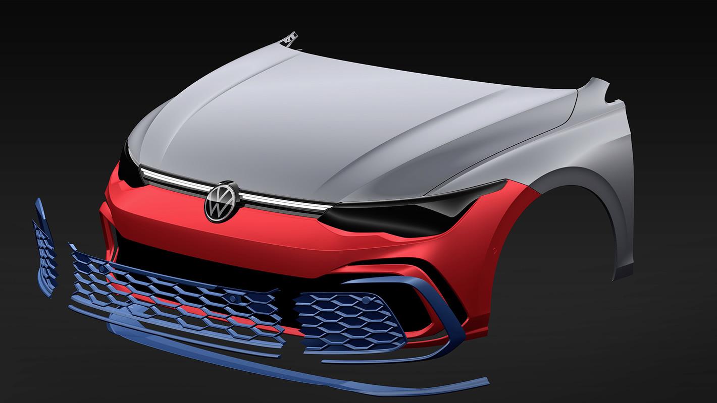 Volkswagen Golf GTI szkic i design