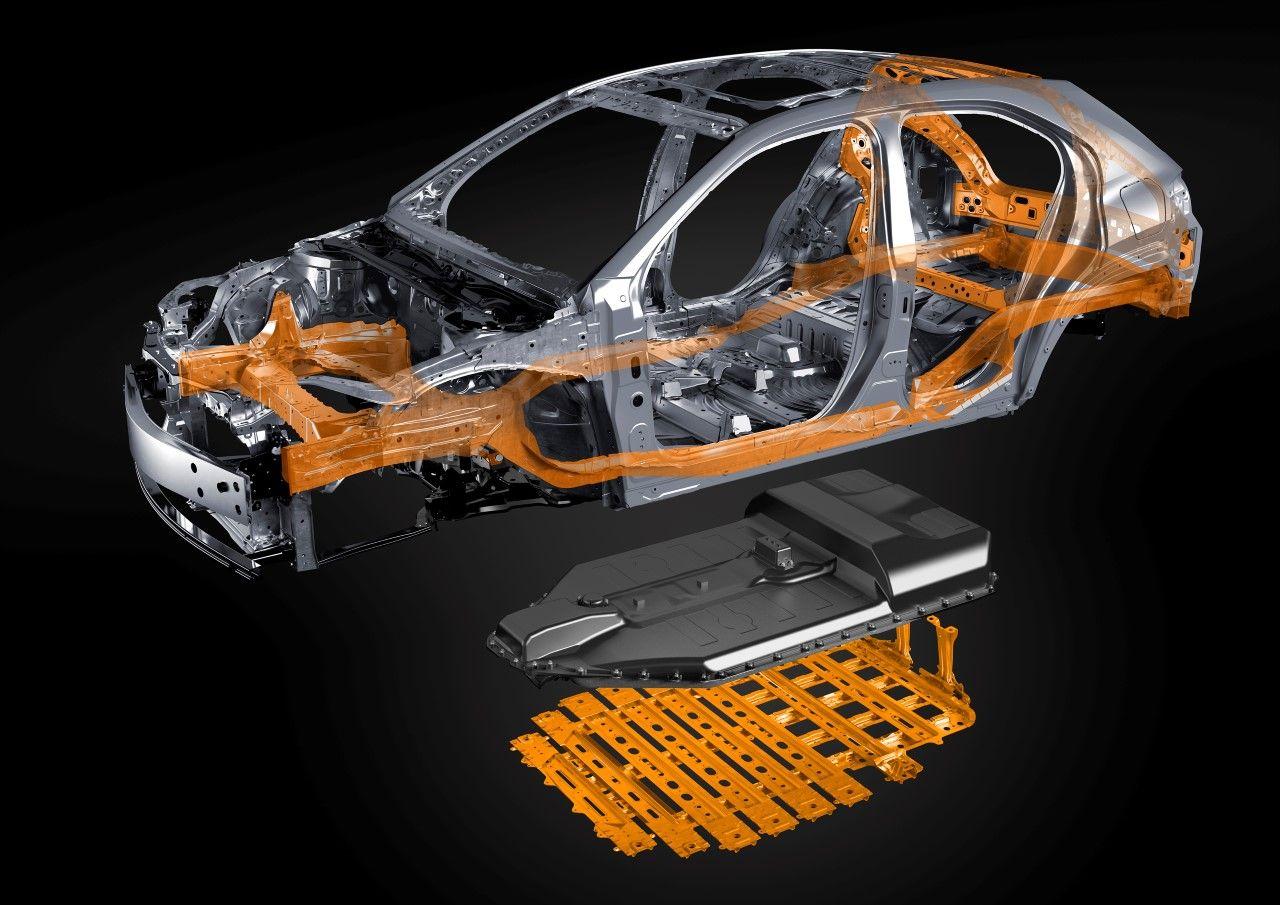 Lexus UX 300e szkielet i baterie