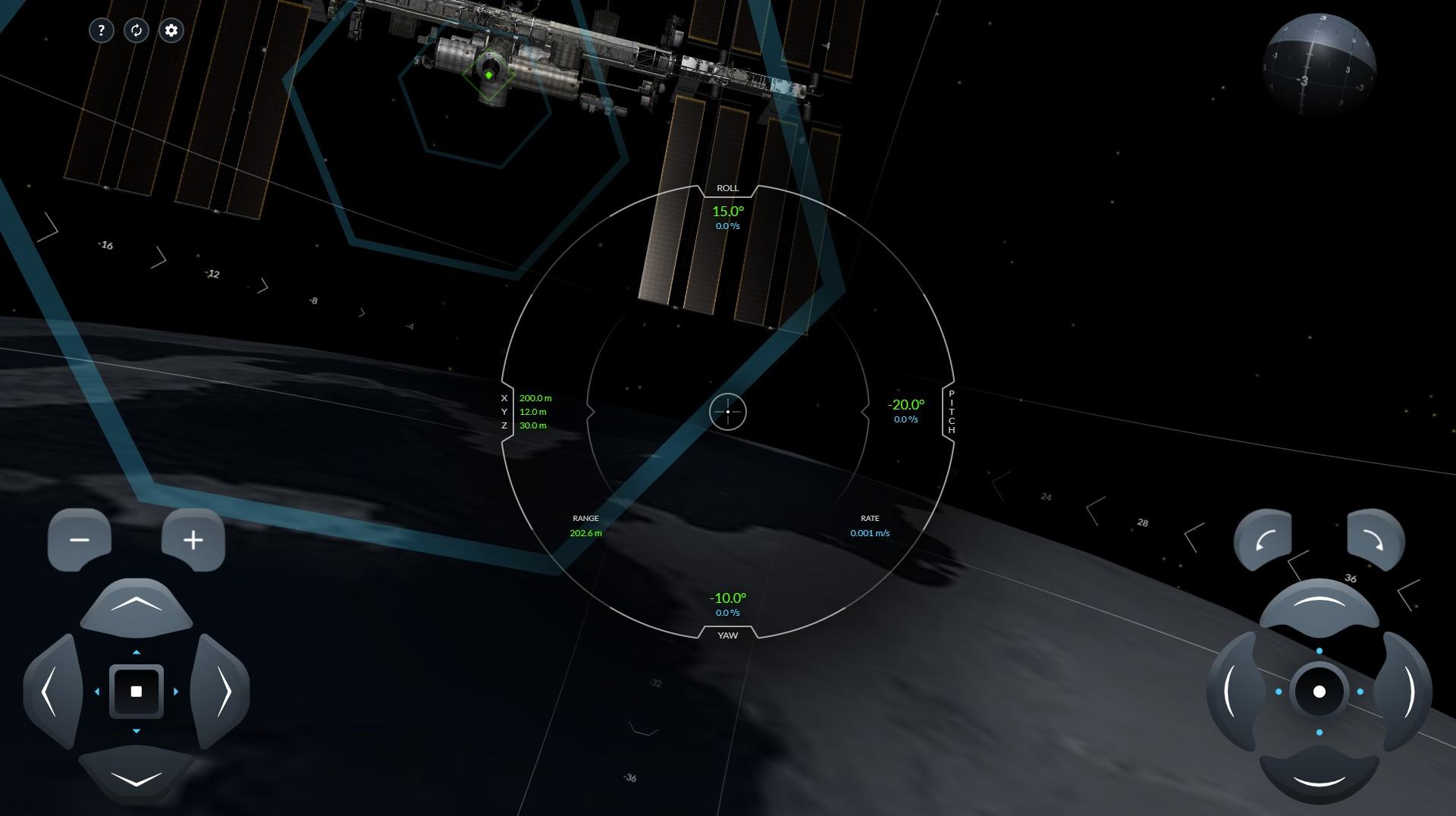 SpaceX crew dragon simulator