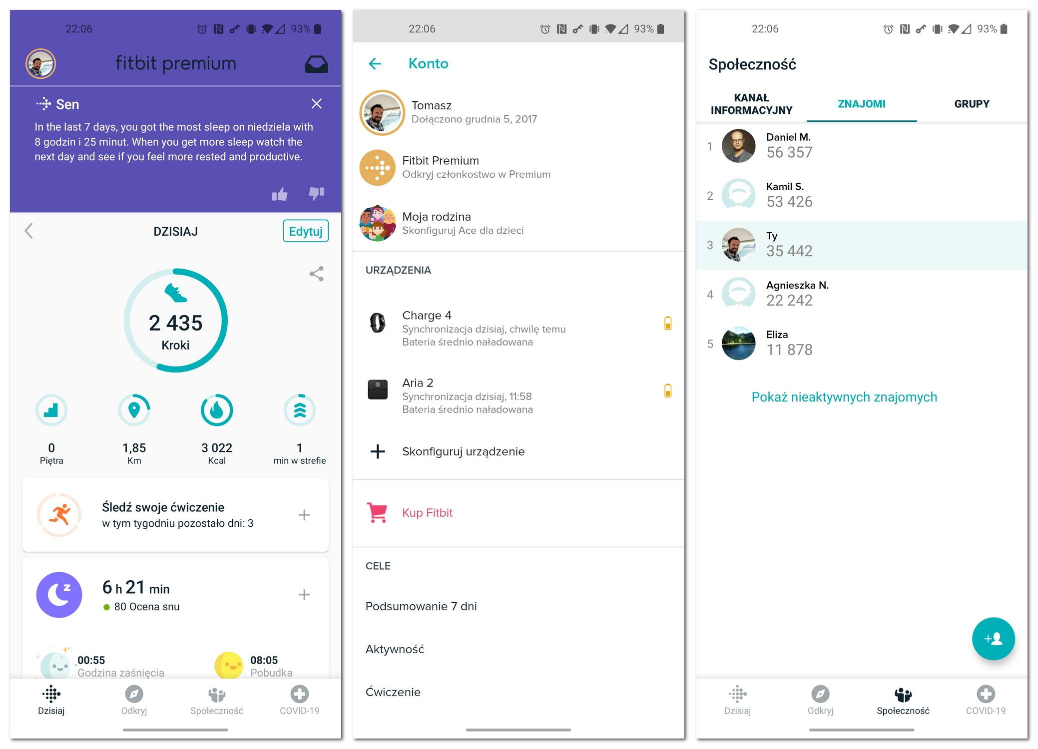 Fitbit Aplikacja
