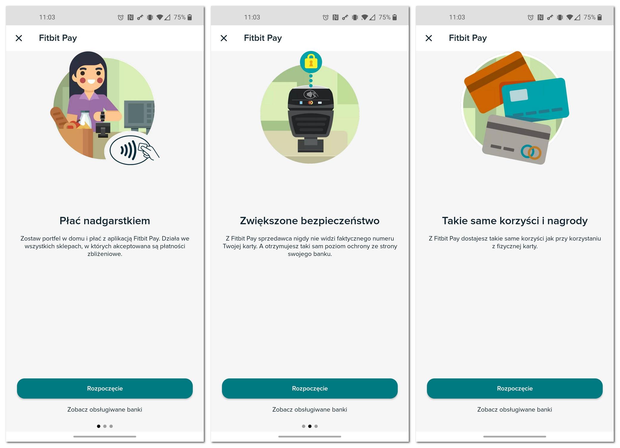 Fitbit Pay aplikacja