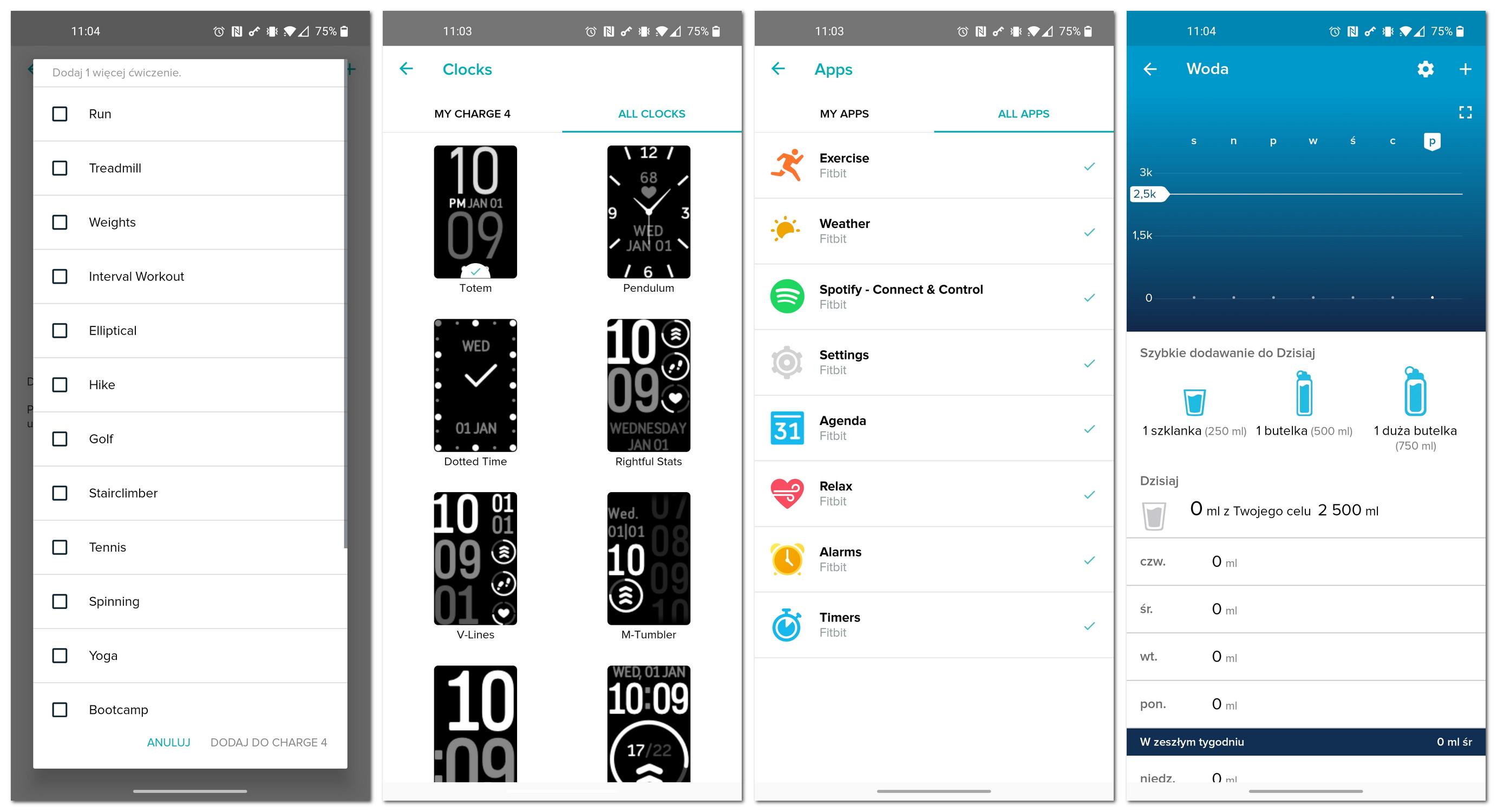 Fitbit aplikacja ustawienia opaski
