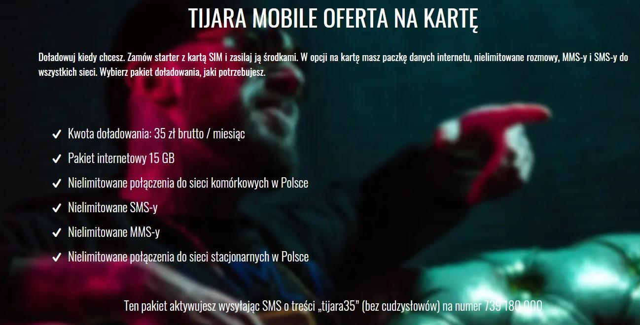 Tijara Mobile - oferta na kartę