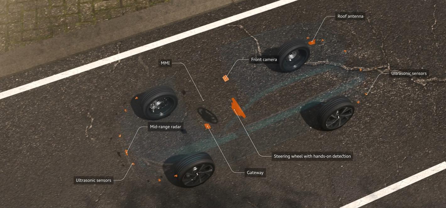 Nowe Audi A3 adaptacyjny asystent jazdy