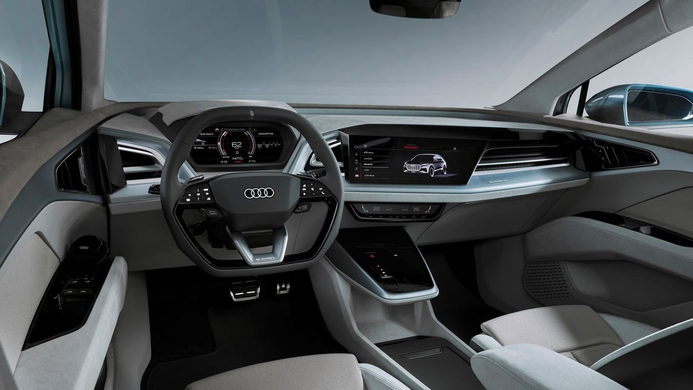 Audi Q4 Sportback e-tron wnętrze