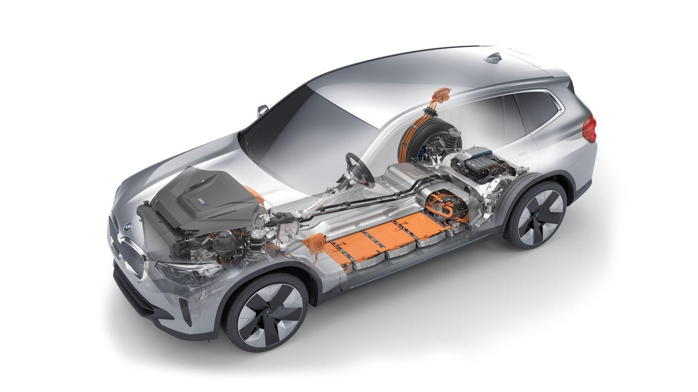 BMW iX3 schemat układu zasilania