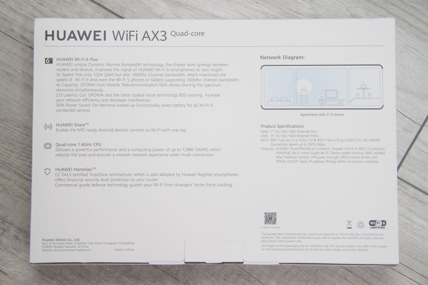 Huawei WiFi AX3 Quad core specyfikacja