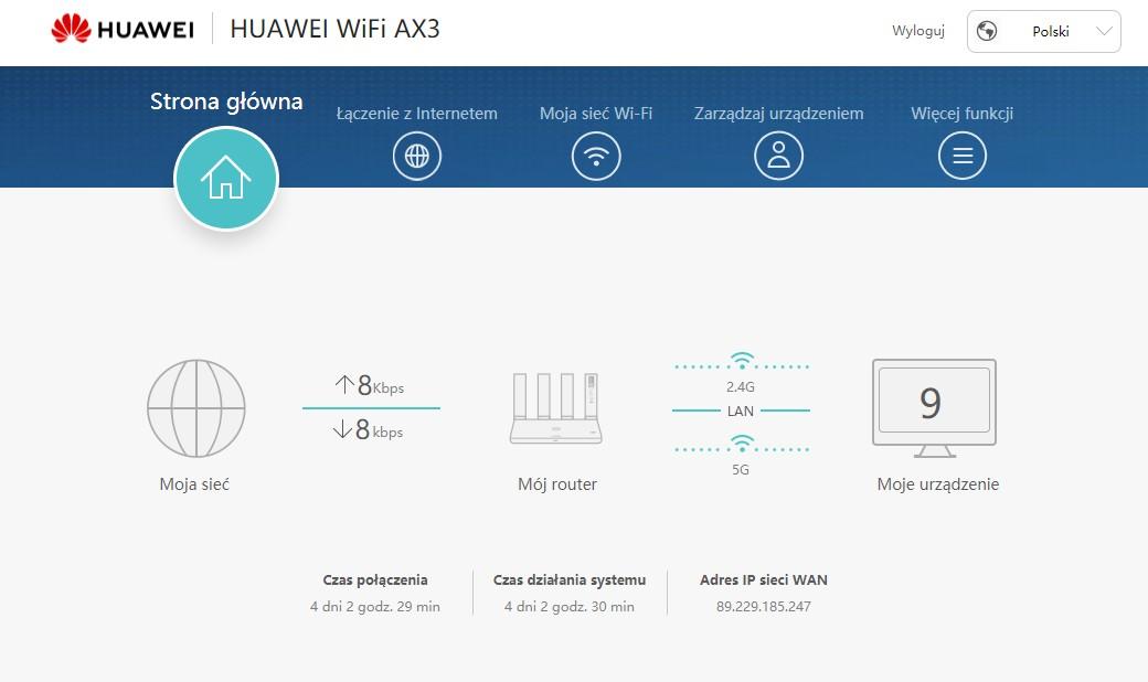 Huawei WiFi AX3 serwis WWW