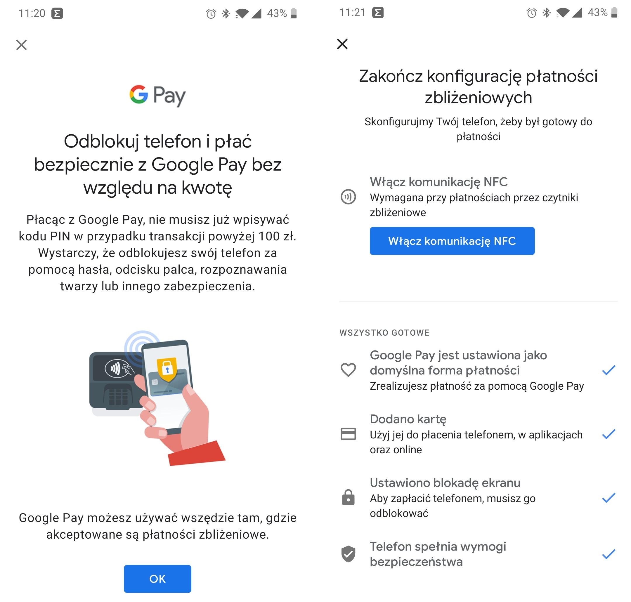 Google Pay bez pinu