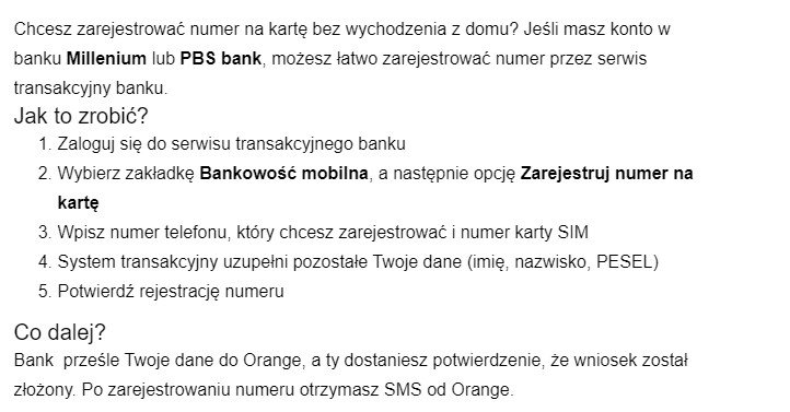 rejestracja numeru na kartę w banku