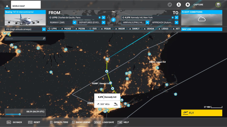 Microsoft Flight Simulator mapa