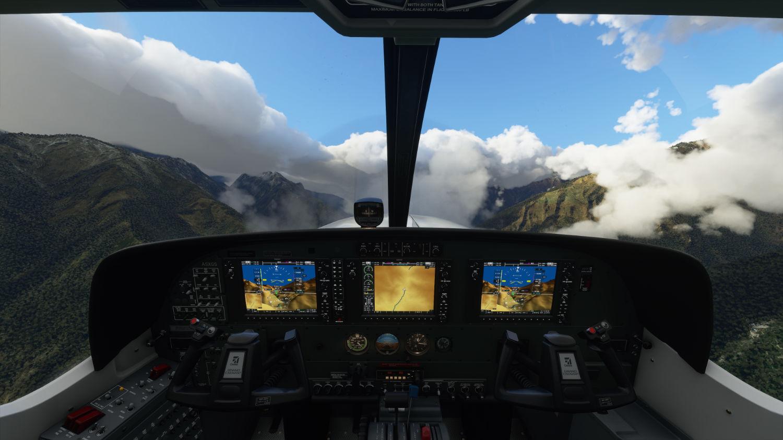Microsoft Flight Simulator kokpit pilota