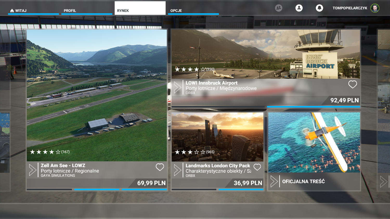 Microsoft Flight SImulator mikropłatności