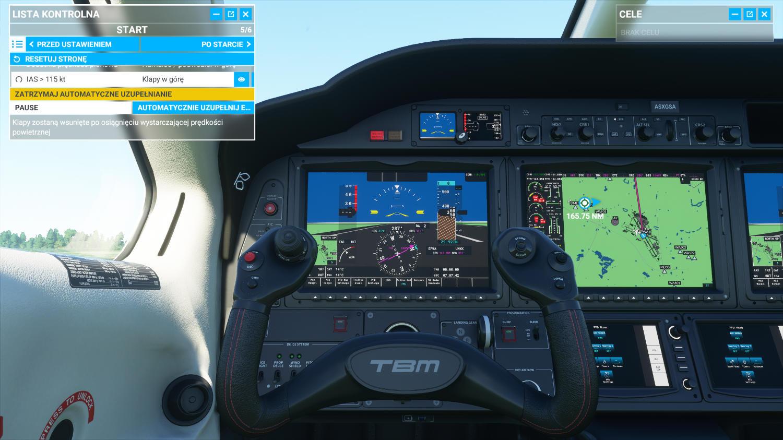 Startowanie z Okęcia Microsoft Flight SImulator