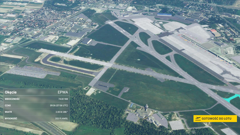 Lotnisko Chopina w MS Flight Simulator