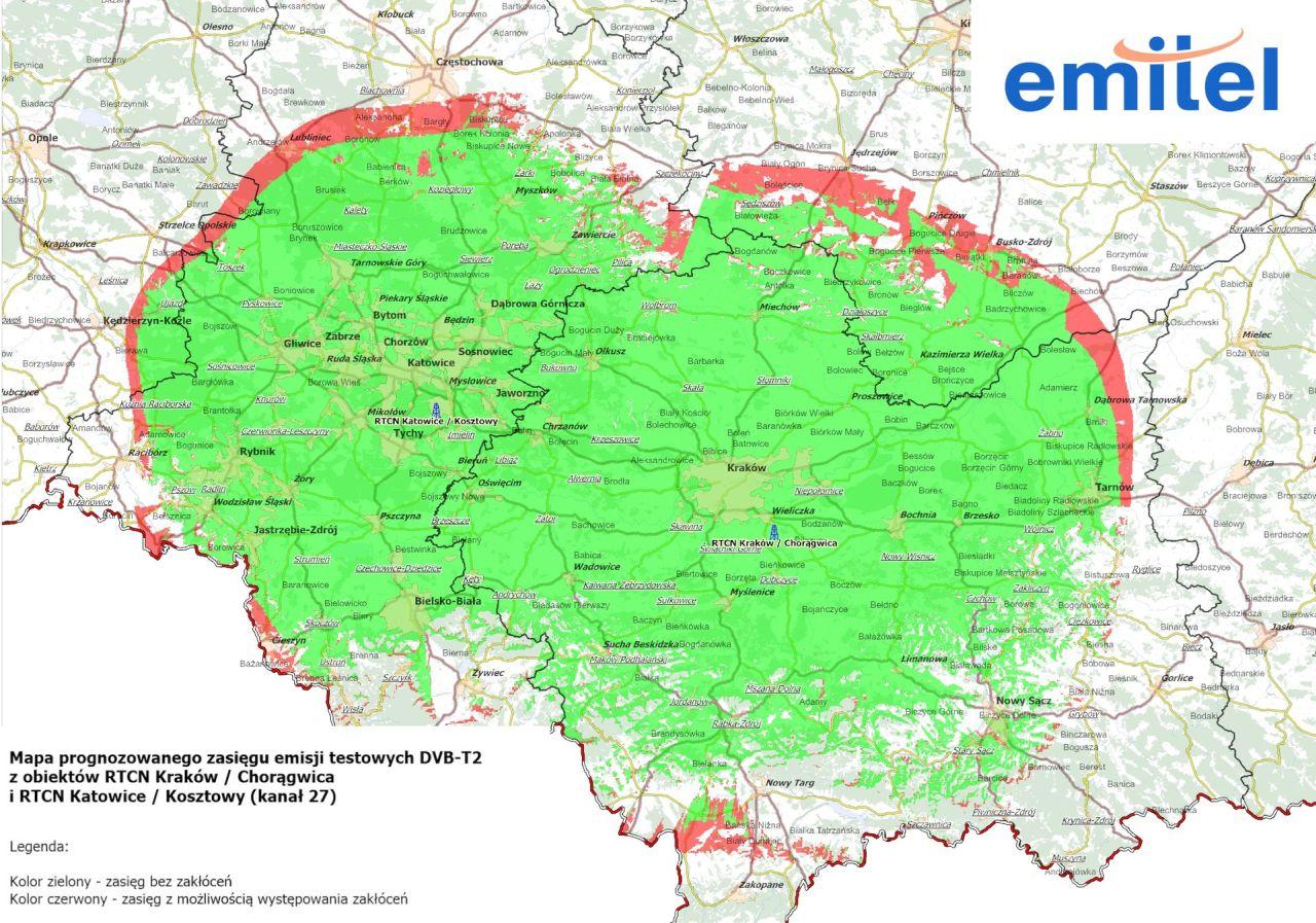 Mapa-DVB-T2_zasięg emisji testowych
