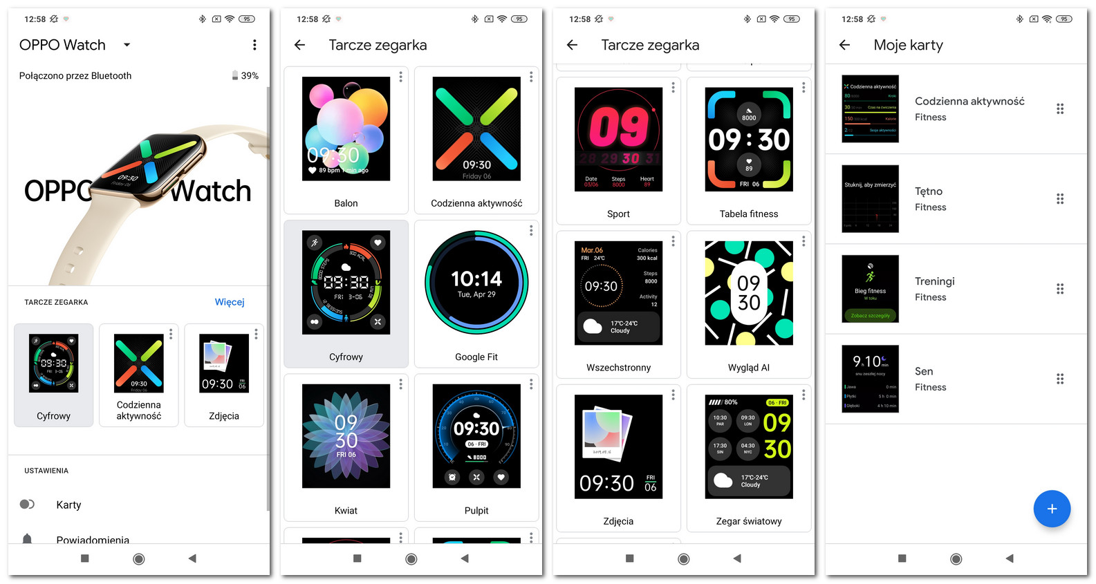 Oppo Watch - aplikacja i tarcze
