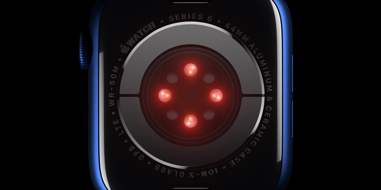 czujniki w apple watch series 6