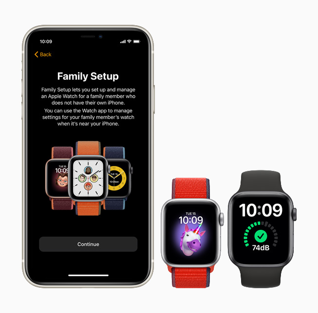 Apple Watch SE - Family Setup, funkcje