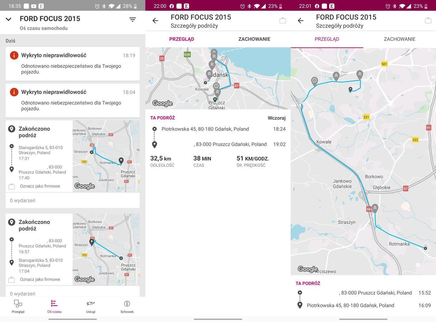 Aplikacja T-Mobile Tracker możliwości