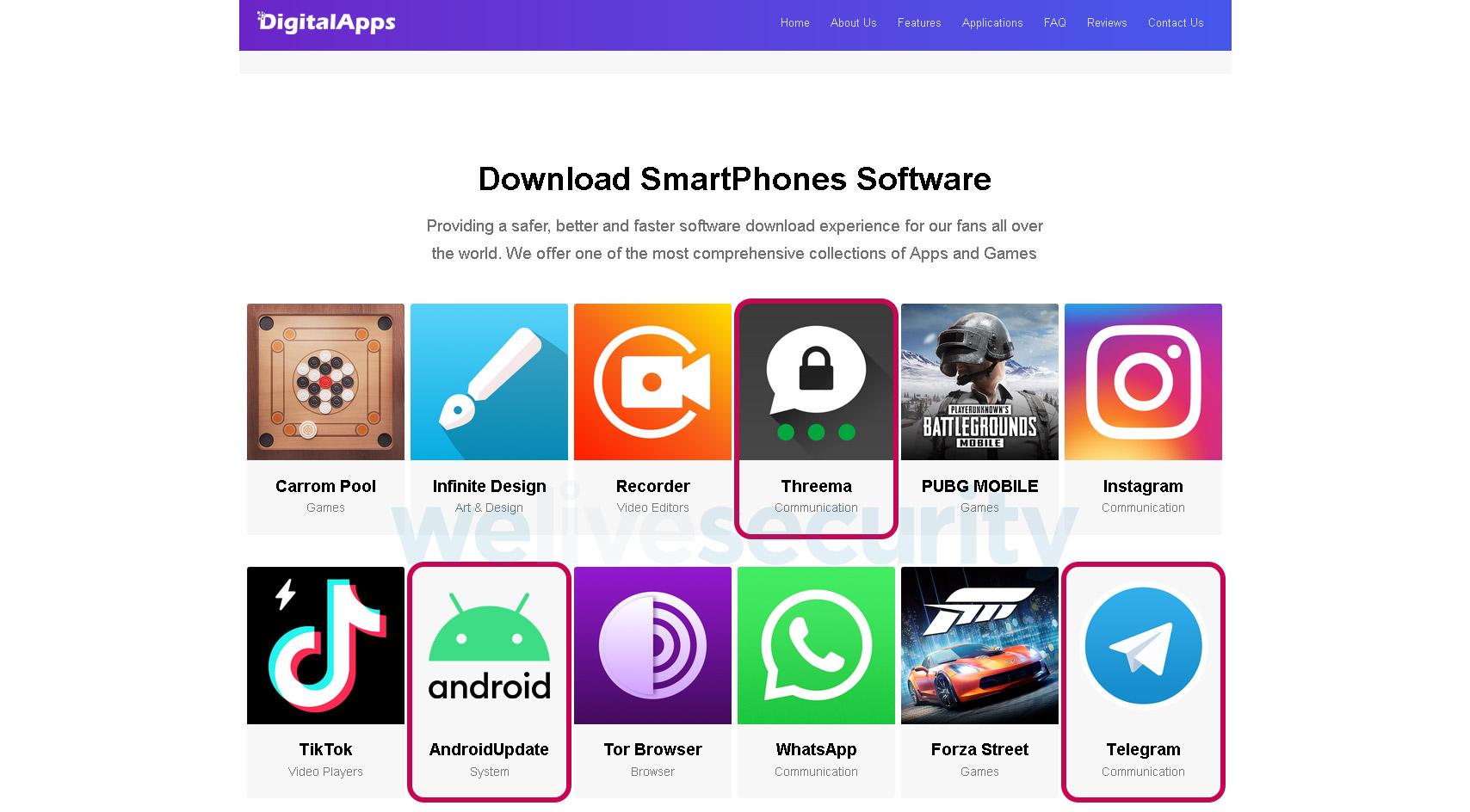 sklep z fałszywymi aplikacjami na androida