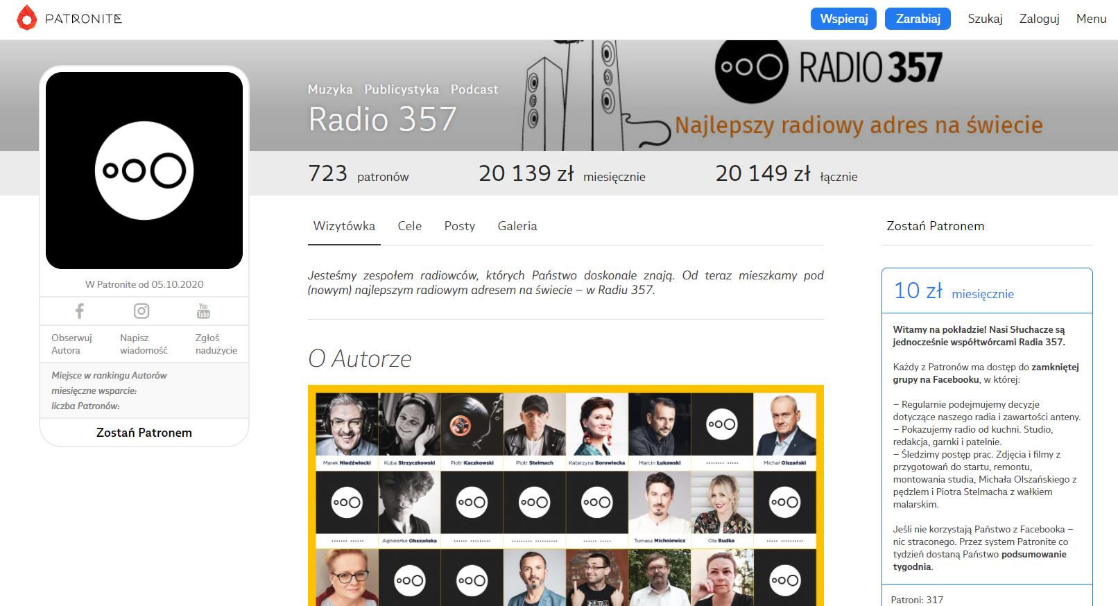 Radio 357 - nowa internetowa stacja radiowa