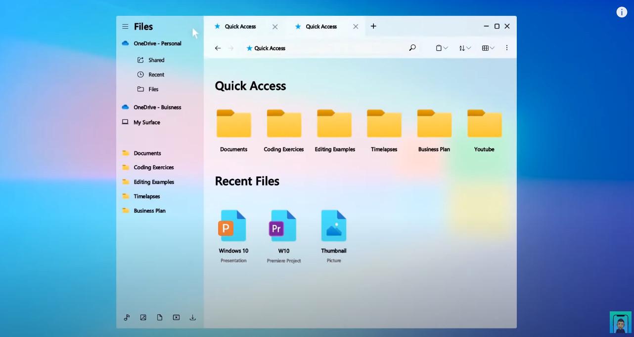 Eksplorator plików Windows 10 Sun Valley