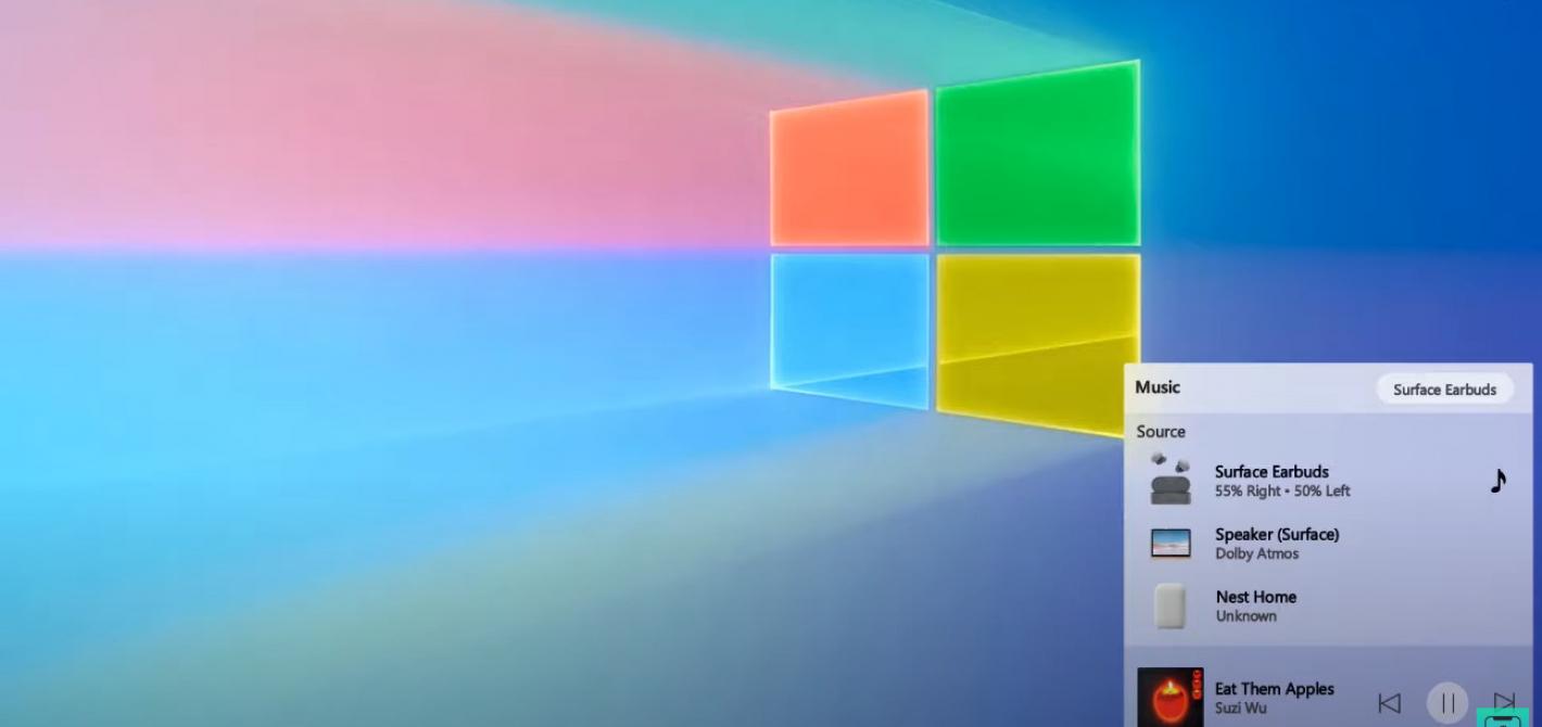Wybór audio Windows 10 Sun Valley