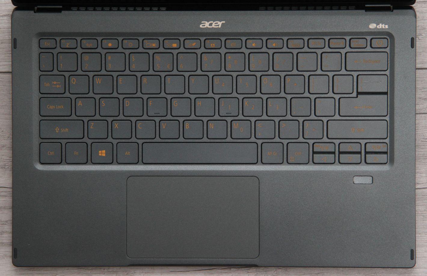 Acer Swift 5 z Intel Tiger Lake klawiatura
