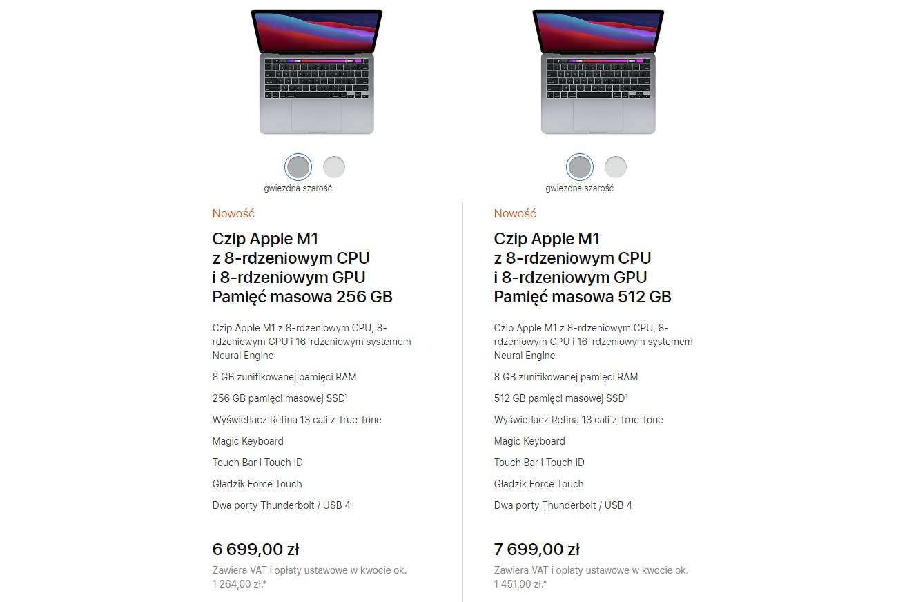 Apple Macbook Pro 13 polski cennik
