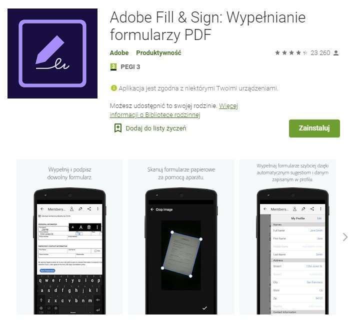 Adobe PDF Fill and Sign for Android
