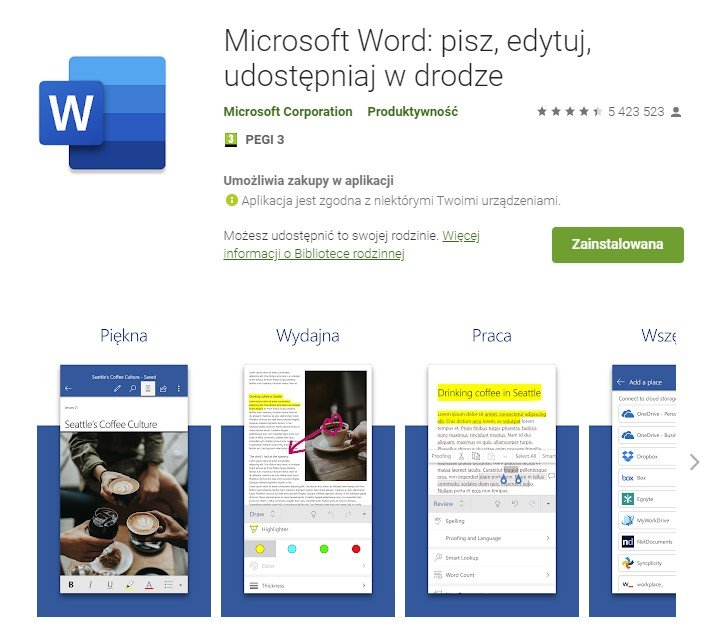 Word for Android