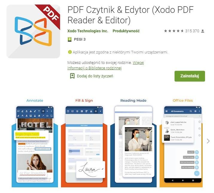 Xodo PDF na Androida