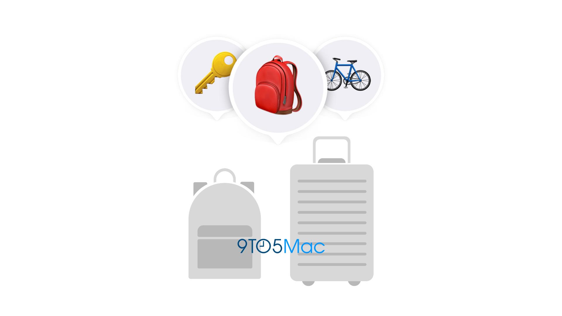 ikony plecaka, walizki, kluczy i roweru