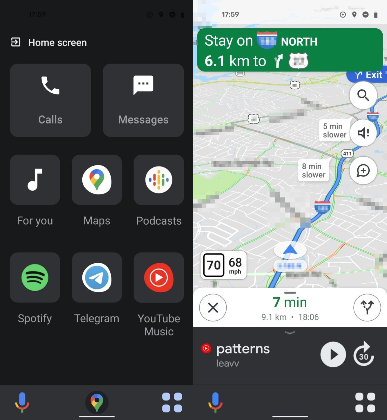 Mapy Google z trybem jazdy
