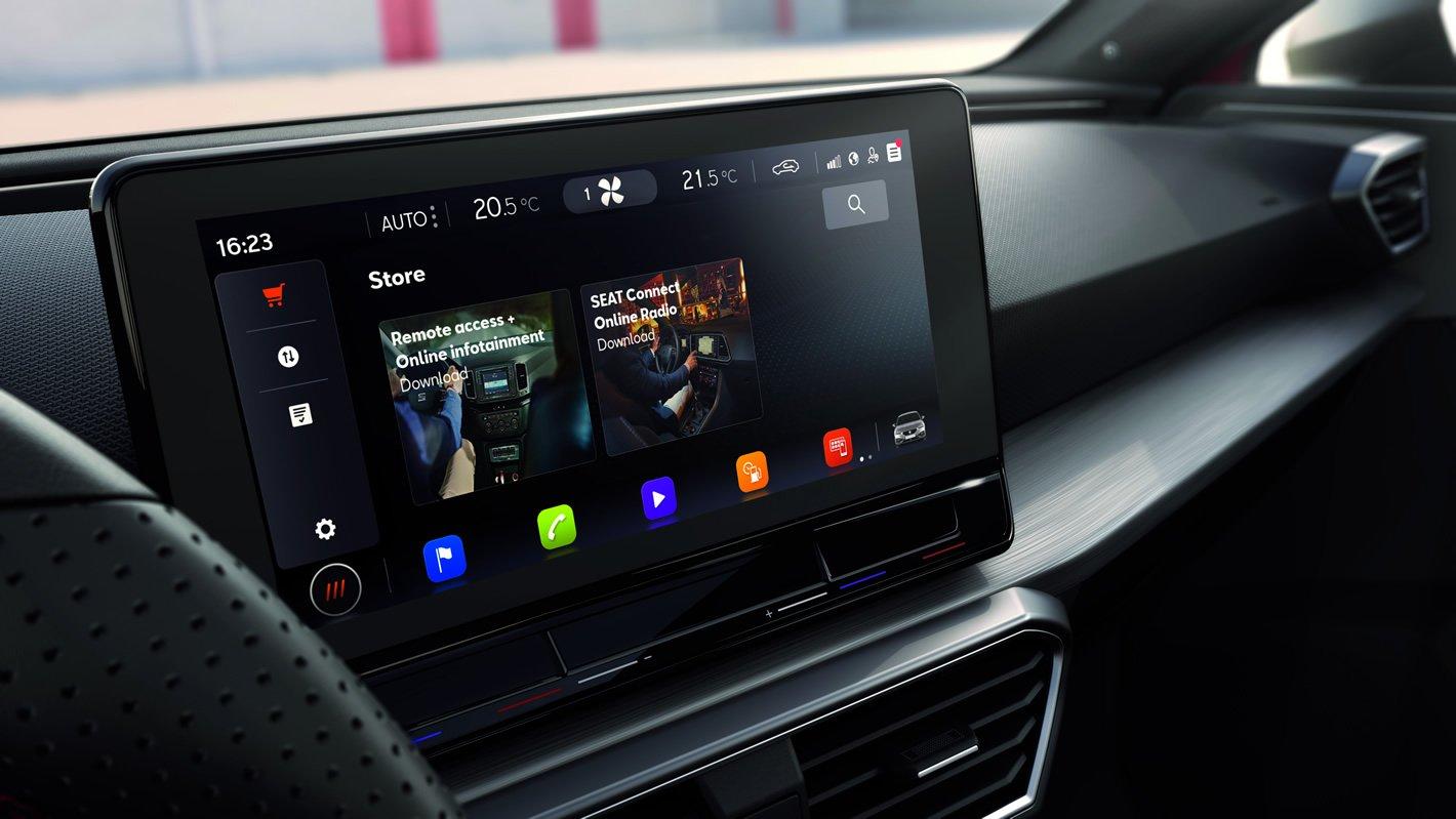 Seat Leon - system inforozrywki