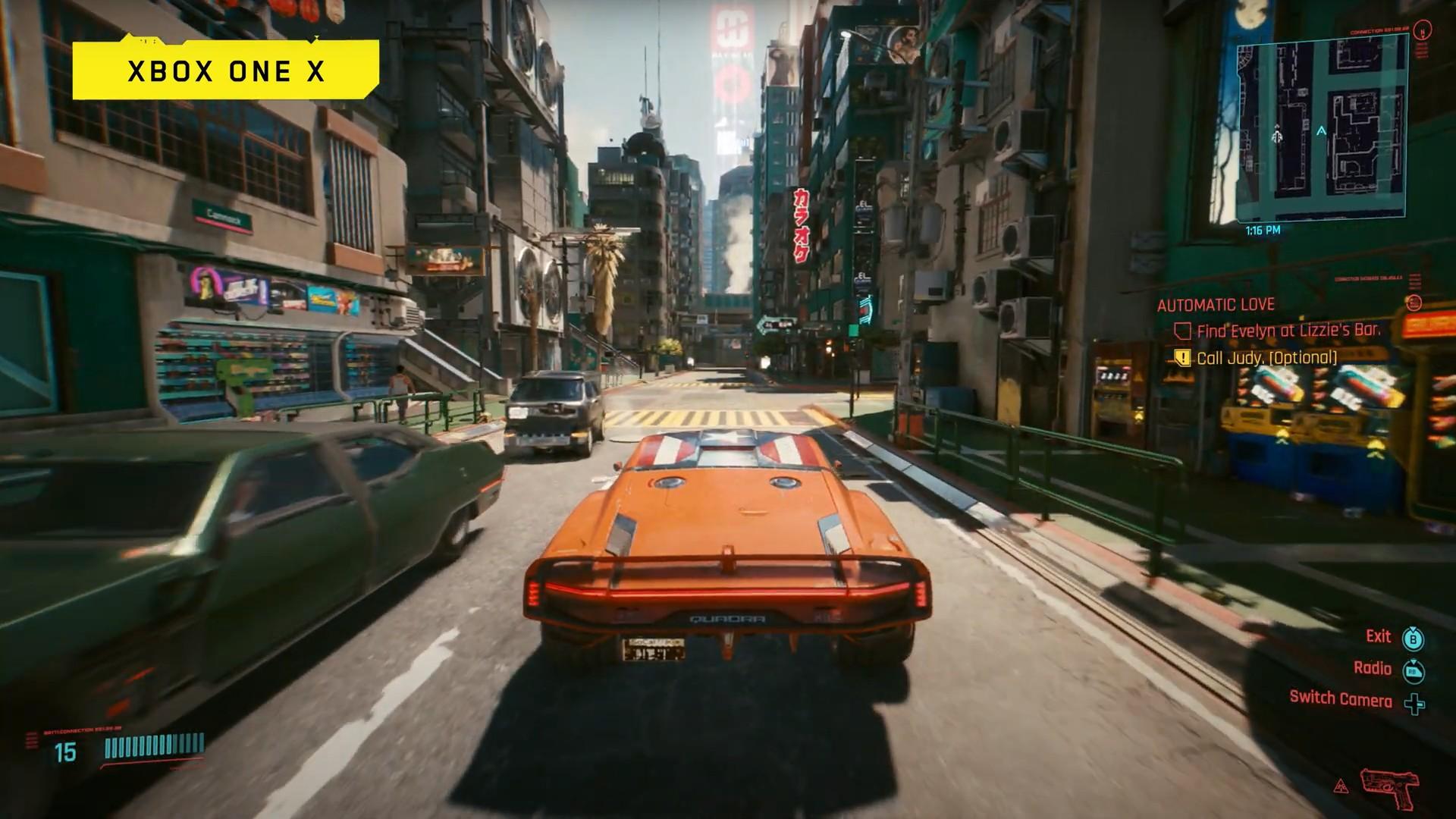 Cyberpunk 2077 na Xbox One X