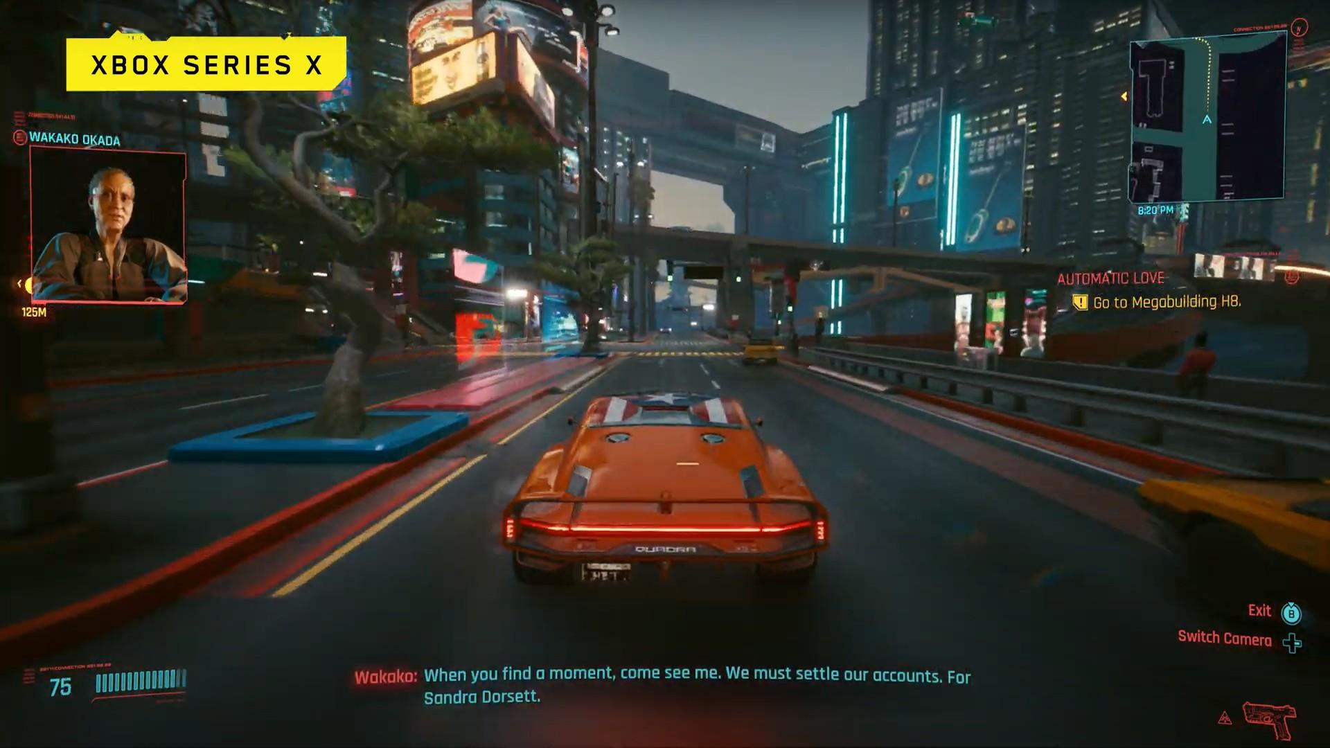 Cyberpunk 2077 na Xbox Series X