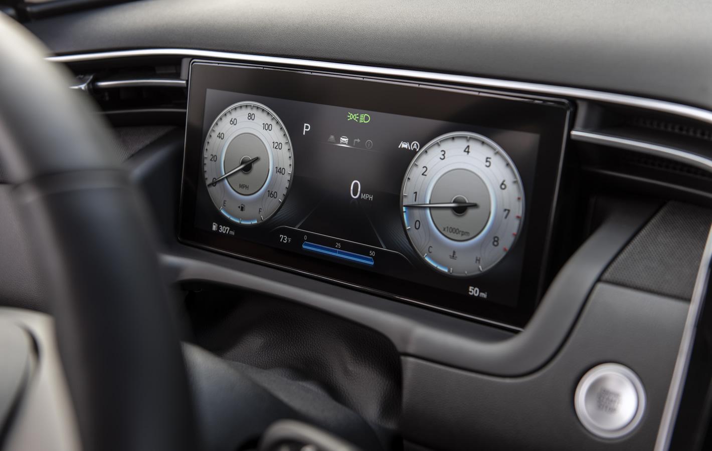Hyundai Tucson 2020 2021 - wirtualny zestaw wskaźników