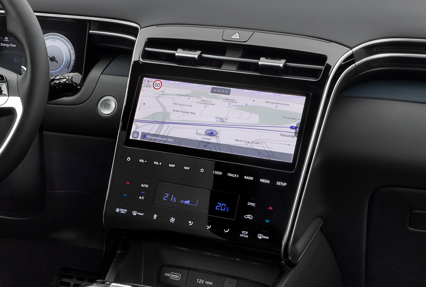Hyundai Tucson 2020 2021 - panel klimatyzacji