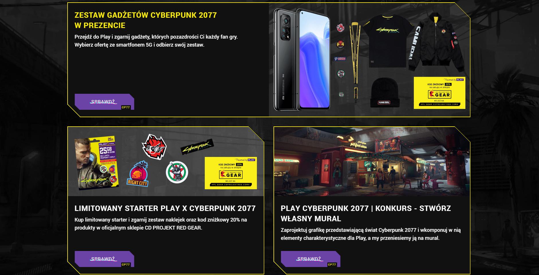 Cyberpunk 2077 sieć Play promocja