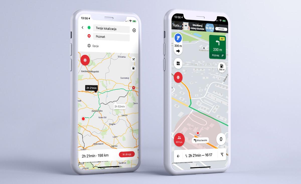aplikacja mobilna yanosik