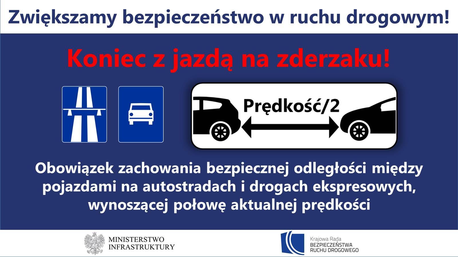Zakaz jazdy na zderzaku