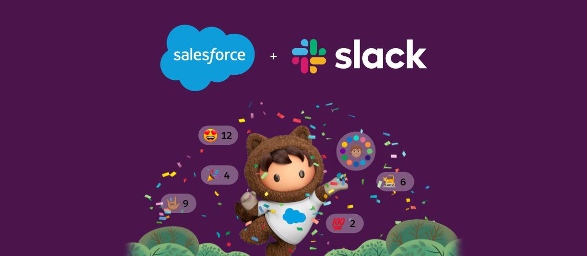 grafika prezentująca partnerstwo salesforce i slack