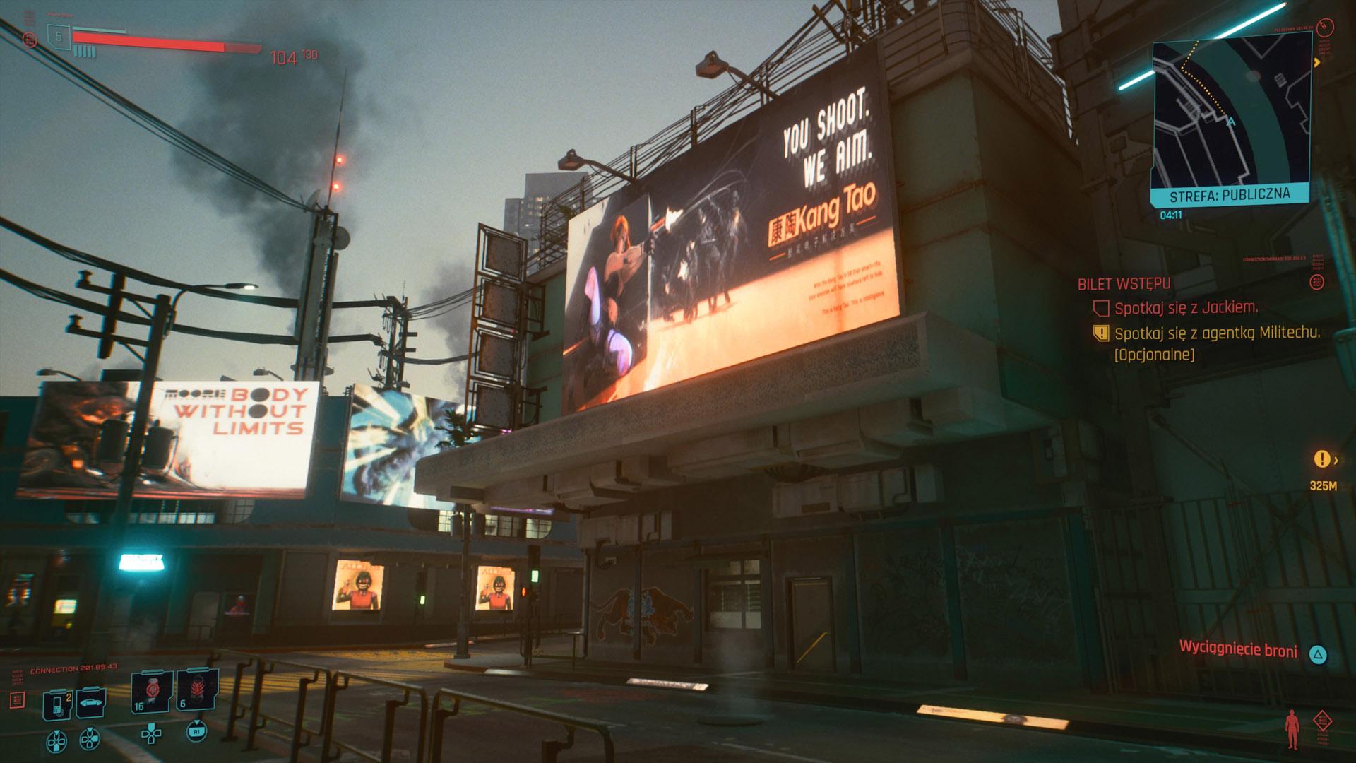 zrzut ekranu Cyberpunk 2077
