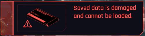 uszkodzony save cyberpunk 2077