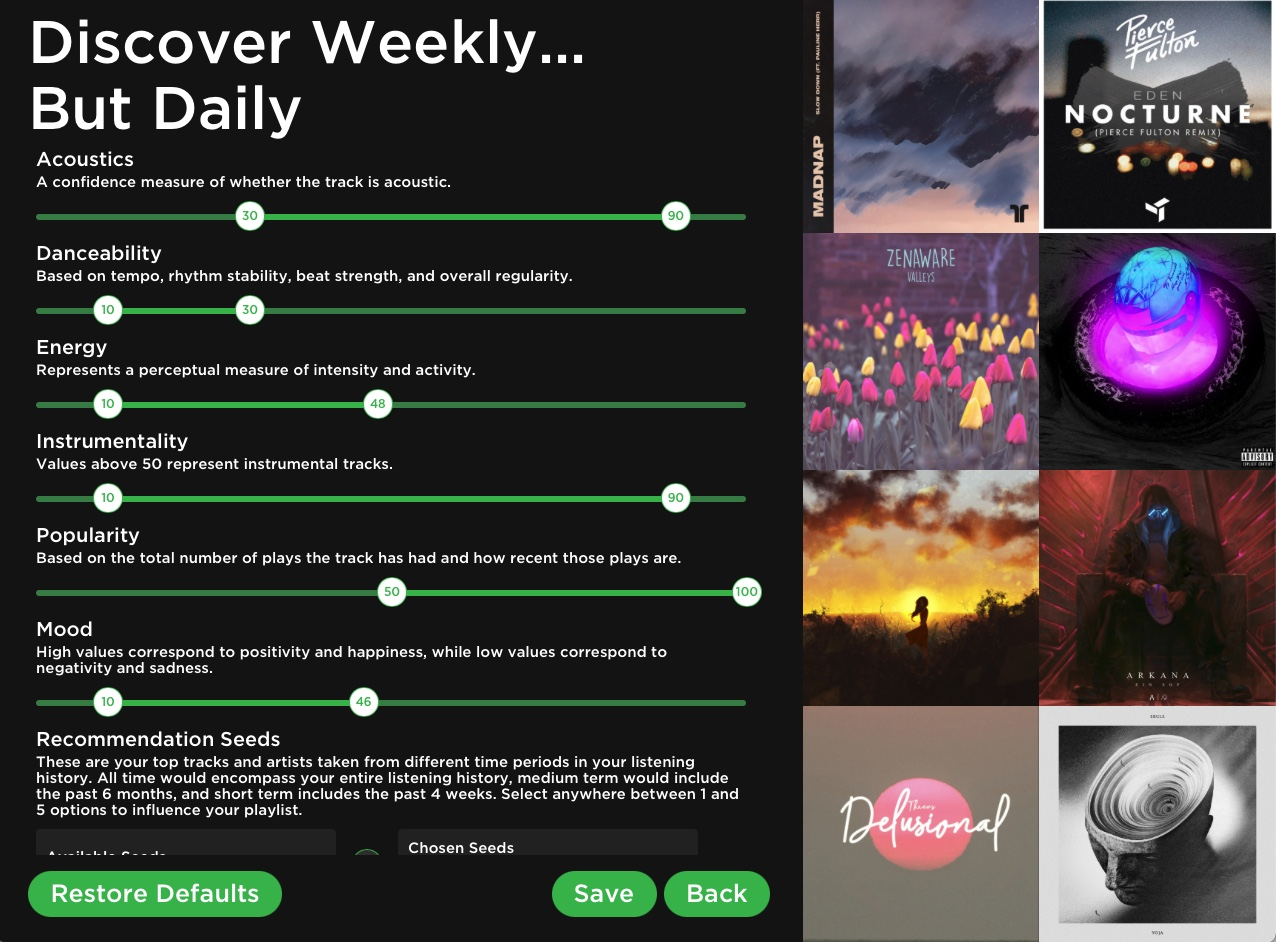 Discoverify music dla spotify
